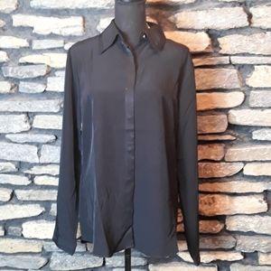 NWT Spiegel black long sleeve button down …